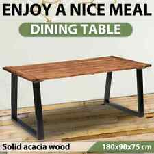 vidaXL Solid Acacia Wood Dining Table Home Kitchen Dinner Room Table Furniture
