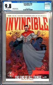 Invincible #138 CGC 9.8 WP 2017 3941185018 Robert Kirkman Amazon Prime TV