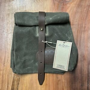NEW Frost River Waxed Canvas Leather Lunch Bag USA Duluth MN KK5
