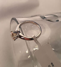 Solid 14K White Gold 1 Carat G-H VS1 Enhanced Diamond Engagement Ring Round Cut