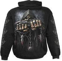 Spiral Direct GAME OVER Hoodie Black Death/Reaper/Skulls/Tribal/Biker/Metal