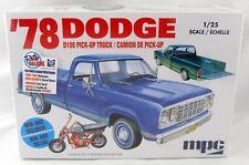 1:25 Scale '78 Dodge D100 Pick-Up Truck w/Mini-Bike Model Kit - MPC #901M/12