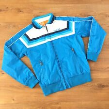 Soul Cal Men's Lightweight Retro Style Jacket Size XL Blue Windbreaker