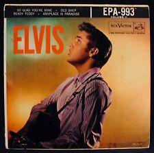 ELVIS PRESLEY-EPA 993 Cardboard Picture Sleeve-RCA VICTOR #EPA-993