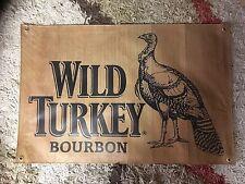 wild turkey man cave print 3X2 FT VINYL POSTER pool room sign harley RUM BIKER