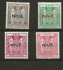 More details for niue (y-061) 1941 sg83-86 2/6d to £1.00 set of 4  o/print mounted mint see scan