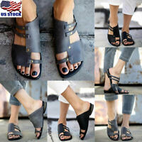 Women Gladiator Summer Sandals Shoes Ladies Toe Ring Flops Flip Flats Slipper US