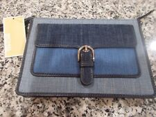 Michael Kors Cooper Medium Wristlet Indigo Light Wash Dark Denim 118
