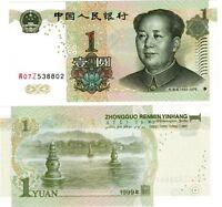 Chine CHINA Billet 1 YUAN 1999 P895 MAO TSE TUNG NEUF UNC