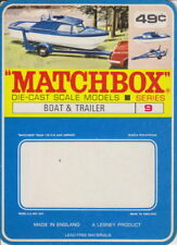 Matchbox 09d boat & tráiler rare canadische termosellada sin usar