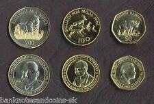 TANZANIA COIN SET 50+100+200 Shillings 1994-1998 UNC UNCIRCULATED LOT of 3
