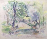 Ulla Haakø Weinert 1897-1967 Parklandschaft Spaziergang Sommertag Expressiv