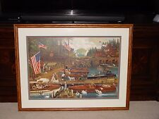 Charles Wysocki Lost in Woodies Custom Framed New England Americana Art w/ COA