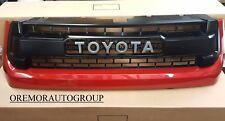 14-17 Genuine Tundra TRD Pro Grille Toyota 3R3 Barcelona Red Metallic OEM