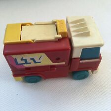 Discovery Time Folding Retro Rare Vintage Tomy Transforming Fire Truck Toy 36123