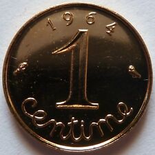 1 Centime Epi 1964 plaqué Or. Pour faire un cadeau souvenir du Franc