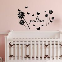 Custom Name Wall Stickers Home Decoration Accessories For Kids Rooms Decoration