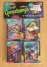 Vintage 1996 Set 4 Goosebumps 24 Piece Mini Puzzle Sealed Milton Bradley MB