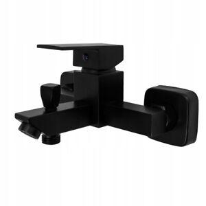 Black Bathtub Shower Mixer Tub Tap Faucet Brass Wall Mounted Bathroom Bath 278