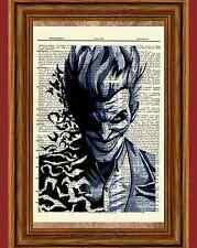 The Joker Arkham Asylum Dictionary Art Print Poster Picture Batman Marvel Comic