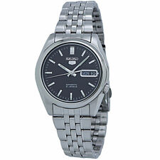 Seiko 5 Automatic Black Dial Stainless Steel Men's Watch SNK361