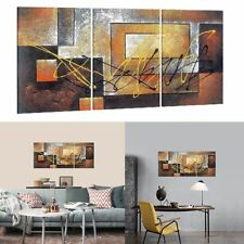 3 Pc Modern Abstract Wall Decor Art Picture Print Canvas Framed Home Hang Decor