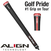 Golf Pride Tour Velvet ALIGN Ribbed Black Golf Grip - STANDARD / MIDSIZE