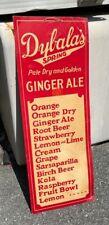 Antique Dybala's Spring Pale Dry & Golden Ginger Ale Soda Cardboard Sign