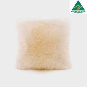 UGG Australia Long Sheepskin Cushion Natural Small Square 40x 40cm RRP $188