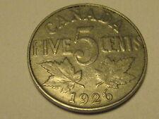 1926 Far 6 Canadian Nickel Fine