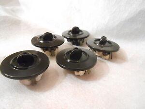 Orig Serienschalter Bakelit doppel Kipp  Schalter  Aufputz schwarz Steckdose