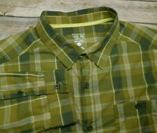 Mountain Hardware Green Plaid Check Long Sleeve Pocket Button Shirt Men's 2XL