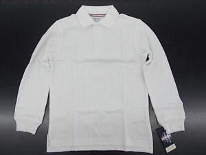 Boys French Toast $20 Uniform/Casual White Long Sleeved Polo Shirt Size 4 - 20