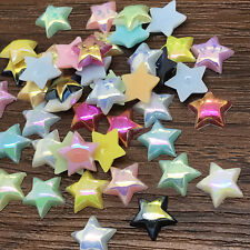 Wholesale 6mm 10mm smooth Resin Star Beads Flat back Scrapbooking Craft DIY