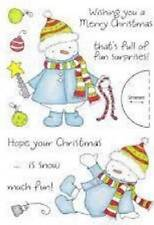 INKY ANTICS HoneyPop Clear Stamps DECORATING SNOWMAN Hope Christmas Is Snow Fun