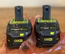 2-Pack Ryobi 18-Volt 4.0Ah Lithium-Ion High Capacity Battery P197 replaces P108