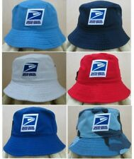 Usps Postal Service Stonewashed Bucket Style Hat 100% Cotton