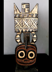 Beautiful Tribal Bwa  Plank Mask    ---  Burkina Faso BN 59