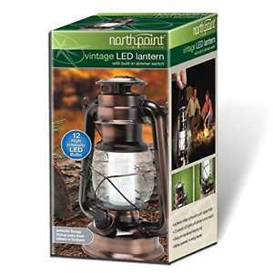 INDOOR OUTDOOR LED RUSTIC TABLE LANTERN LAMP SOLAR OR BATTERY OPERATED