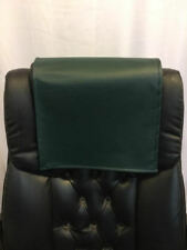 "Recliner 14"" x 30"" Emerald Green Champion Head Rest Cover Vinyl Sofa seat Chaise"