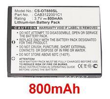 Batterie 800mAh type BY42 CAB3120000C1 Pour Alcatel One Touch 810D