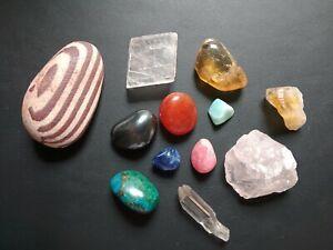 Job lot of Gemstones, natural/tumble stones Crysochola/Larimar/Rhodochrosite +