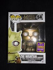 Funko Pop! SDCC 2017 GAME OF THRONES - THE MOUNTAIN [ARMOURED] #54, New in Hand