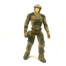 """STAR WARS 1997 ENDOR REBEL SOLDIER BattleFront Power of Force 3.75"""" Kenner toy"""