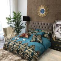 Premium Egyptian Cotton European Lace Embroidery Bedding Set Duvet Cover Set Bed