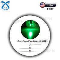 50Pcs 1.5mm Green Light Lamp LED Diodes Dip Water Clear Round Top Super Bright