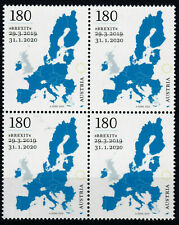Austria 2020 - Brexit Stamp - block of four - sold out - MNH