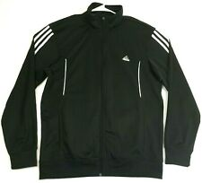 New listing Adidas Clima-lite Mens Size Large Track Jacket Long Sleeve Black 3 Stripes