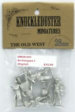 Knuckleduster OW28-501 Archetypes I (The Old West) Gunslingers Male & Female NIB
