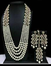 Bollywood Indian Designer Bridal Wedding Gold Fashion Pearl Jewelry Set